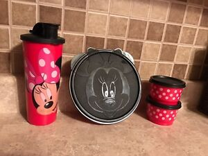 Minnie Mouse Tupperware Set