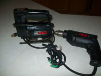 POWER  TOOLS  --  DRILL  AND  JIGSAW