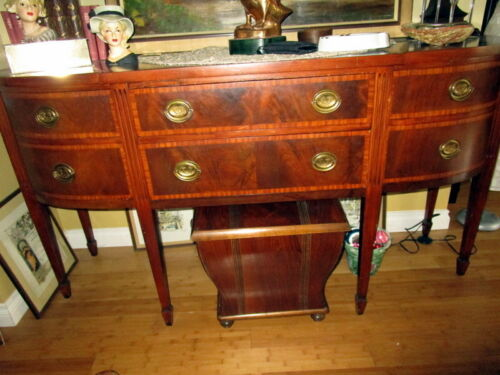 Antique barocke side board -wood -Germany -Pick up only !