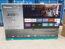 TV ULED 55INCH HISENSE SMART 4K ULTRA HD HDR RETAIL PRICE 650