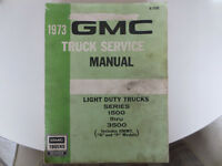 Shop manual for 1973 GMC/Chev Pickups, and similar years