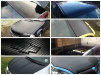 Car exterior & interior vinyl wrapping