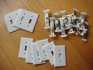 10 LIGHT SWITCHES & 10 LIGHT SWITCH PLATE COVERS $5