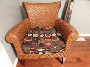 Rattan Chair with Cushion from Pier 1 Imports