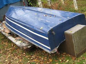older 14 ft  deep and wide aluminum boat