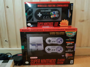 Super Nintendo Classic with wireless controller