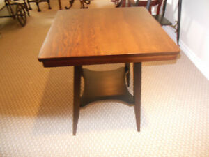 HEAVY SOLID WOOD OCCASIONAL TABLE
