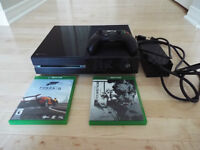 XBOX One 500GB w/ Controller & 2 Games