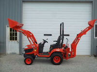 AS NEW KUBOTA BX25D BACKHOE TRACTOR