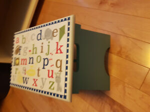 ABC stepping stool great for baby room or nursury