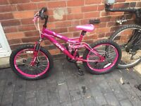 Girls suspension bike