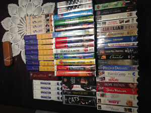 Mint VHS Movies 5$ EACH