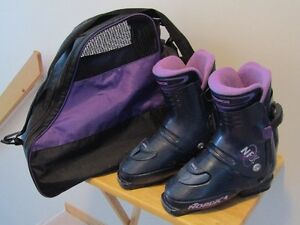 LADY'S  DOWNHILL  SKI  BOOTS  AND  BAG