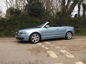 2004 04 AUDI A4 2.4 SPORT CONVERTIBLE ICE BLUE FULL LEATHER RARE 6 SPEED MANUAL