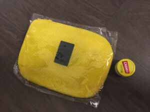 BRAND NEW travel accessory bag pouch, makeup bag - yellow