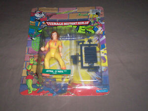 VINTAGE TMNT APRIL O'NEIL FIGURE MOC UNPUNCHED PLAYMATES