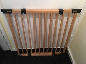 Babydan large stair gate in bristol gumtree for Wooden stair gate ikea