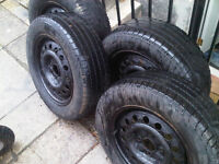 4 Michelin winter tires with rims 195/65/15 $150 best offer