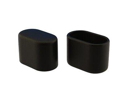 Fusskappe 30 x 14 mm schwarz Stuhlkappe Schutzkappe Rohrkappe Kappe