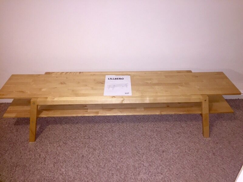 Lillberg Ikea Wooden Bench TV Stand Coffee Table  in