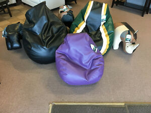 BEAN BAG CHAIRS/ANIMAL LEATHER OTTOMANS