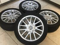"17"" GENUINE BBS VW GOLF GT SPORT CLASSIX ALLOY WHEELS V SPOKE 5x112 POLO GTI GTD MK5 MK6 EOS"