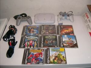 Sony PlayStation One Console Bundle 8 Games