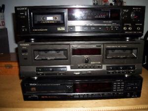 3 Stereo Units For Repair ( Sony, Technics, Denon )
