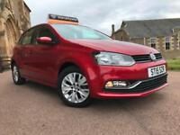 *12 MTHS WARRANTY*2015(15)VW POLO 1.0 SE BLUEMOTION TECH 5DR WITH ONLY 8,000 MIL