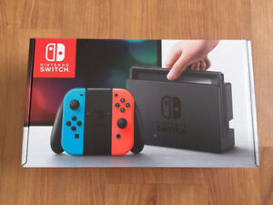 Brand New Nintendo Switch Console with Neon Red/Neon Blue Joy