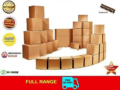 """20 STRONG DOUBLE WALL CARDBOARD BOXES 14""""x10""""x12"""" Mailing Packing Postal Removal"""