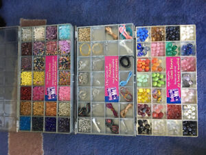 Beads (for crafts, jewelry, clothing) - $40