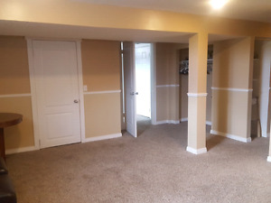 Spacious basement for rent in rundle!