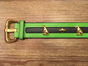 Panther and diamond escada vintage belt.