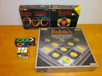 4 RUBIK'S cube Magic GAMES COMPLETE 1980s Matchbox vintage