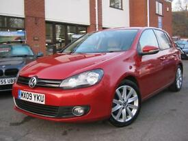 2009 09-Reg VW Golf GT TDI 140,RARE PASSION RED & BEIGE ALCANTARA TRIM,LOOK!!!!