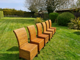 Seagrass dining chairs x6