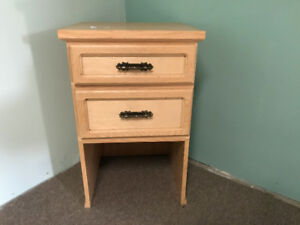 Set of double drawer end tables