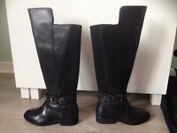 Evans wide boot knee high LEATHER size 4 (would fit small 5) PRICE REDUCED