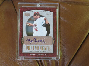 Roger Clemens Upper Deck 07 Preeminence Autographed card  10/50