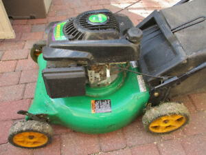 Weed Eater Rear Gas Mower and Large Rigid Shop Vac