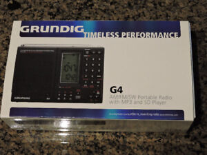 New Grundig G4 AM/FM/SW Portable Radio with MP3 and SD Player