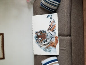Picture of tiger in snow 90x60