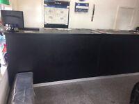 2 pieces black shop counters
