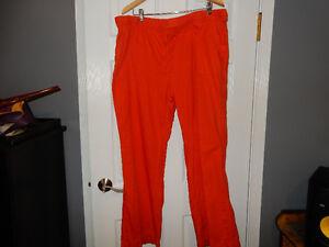 """XXL. """"Joe Fresh"""" Cotton/Linen Orange Pants"""