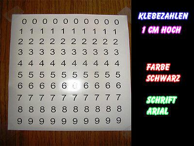 Zahlenaufkleber,Aufkleber,Klebezahlen(100 Stück 1cm)