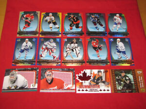 14 McDonald's hockey insert cards -- and assorted McChecklists