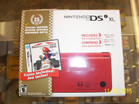 Nintendo dsi xl 25th anniversary special edition with Mario Kart
