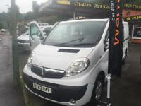 2013 63 Vauxhall Vivaro 2.0CDTi SPORTIVE 2900 LWB CREW CAB AIR-CON / ALLOYS