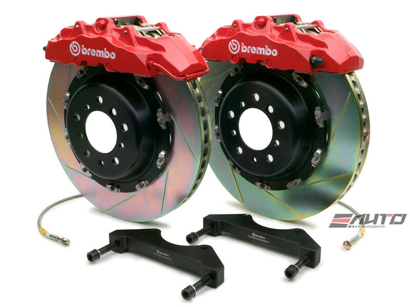 Brembo Front Gt Brake 8piston Red 380x34 Slot Disc Grand Cherokee Srt-8 06-11